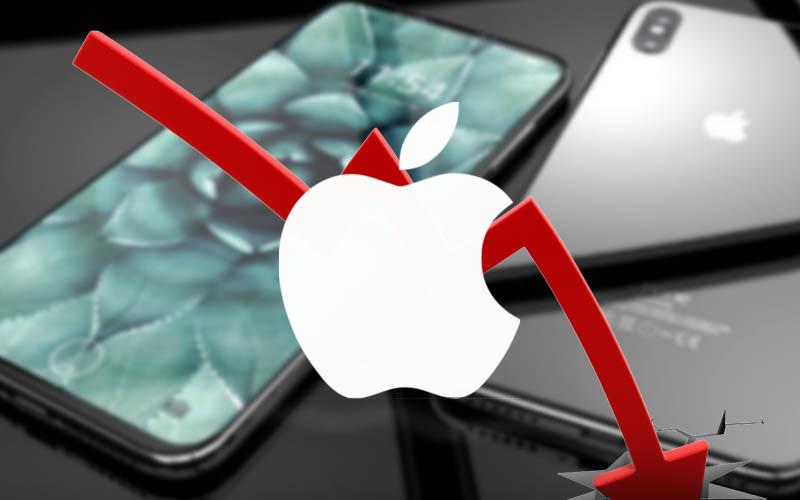 Les modems de iPhone 8 bridés, l'action Apple (AAPL) défaille !