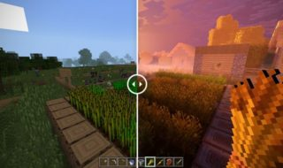 comparaison images minecraft 4k