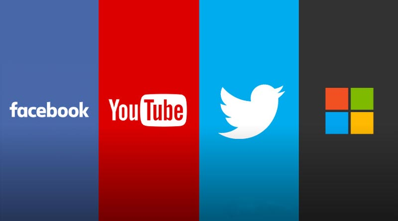 Facebook twitter youtube microsoft