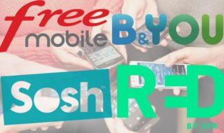 Forfait mobile pas cher : Free, Sosh, SFR RED, B&You, les meilleures promos du moment