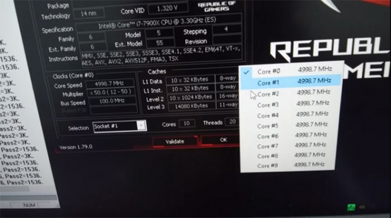 intel core i9 7900x watercoolé