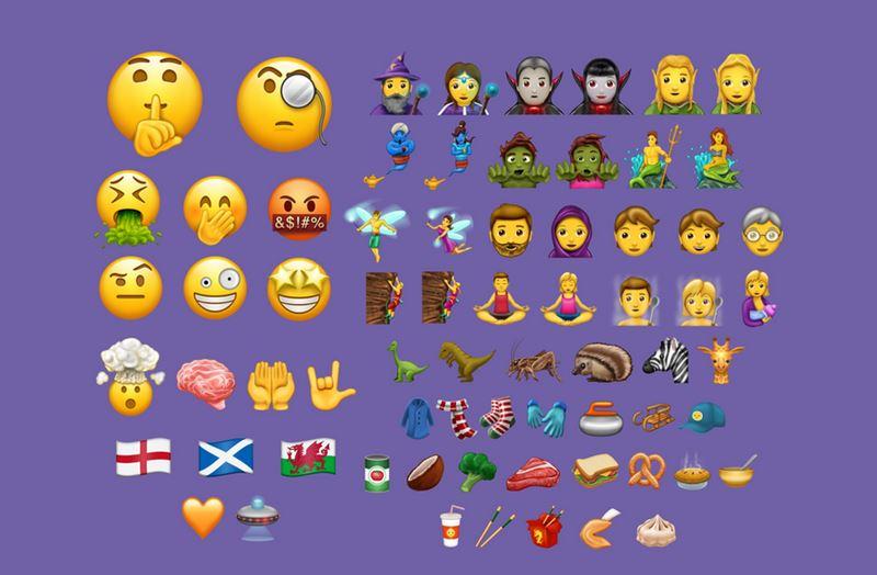 liste nouveaux emojis