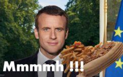Emmanuel Macron vs Benoît Hamon : le portrait officiel a été moins retweeté que ce kebab