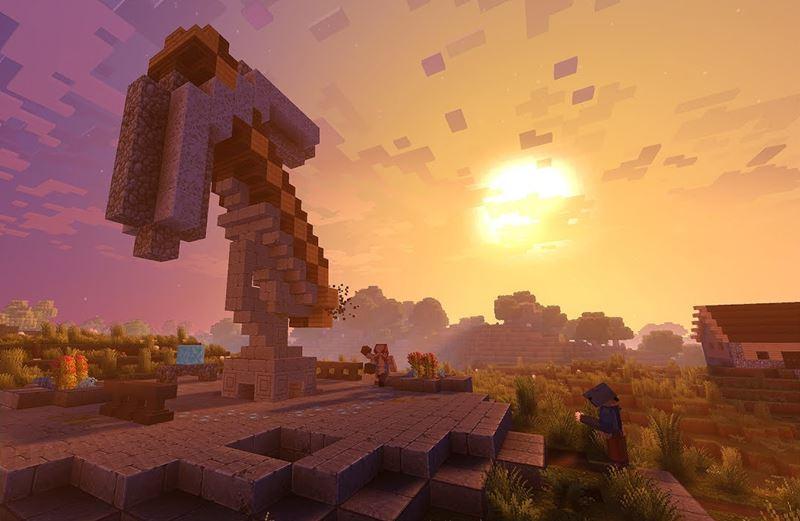 Minecraft 4K en cross play sur Xbox One X