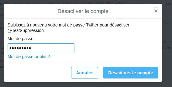 supprimer compte twitter 4