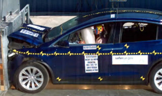 Tesla model x crash tests