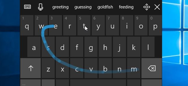 clavier tactile fall creators update