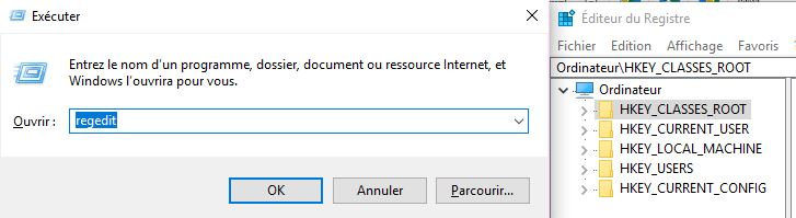 editeur registre windows
