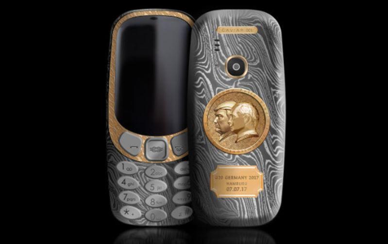nokia 3310 version trump poutine