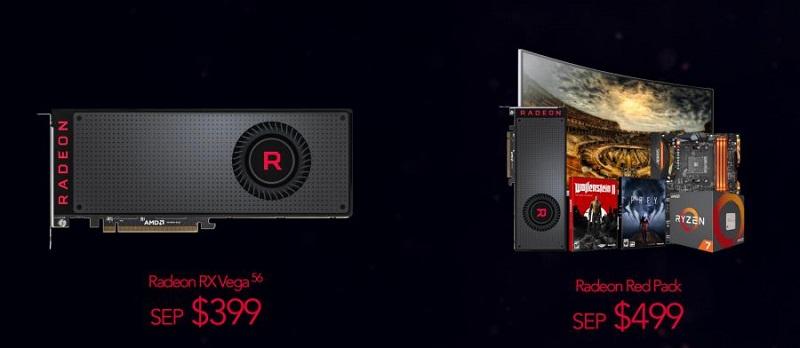 Amd Radeon RX Vega 56 prix