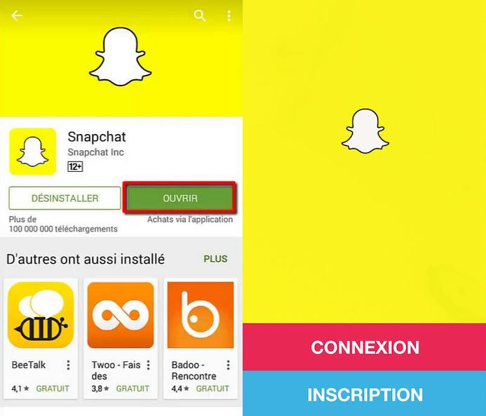 snapchat creer compte