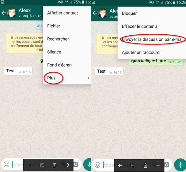 effacer contact whatsapp