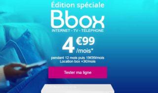 Bouygues Telecom : BBox Internet, TV et Téléphonie à 4,99 € / mois pendant un an