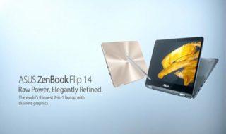 IFA 2017 : Asus présente les ZenBook Flip 14 et 15, le VivoBook Flip et son casque de réalité virtuelle