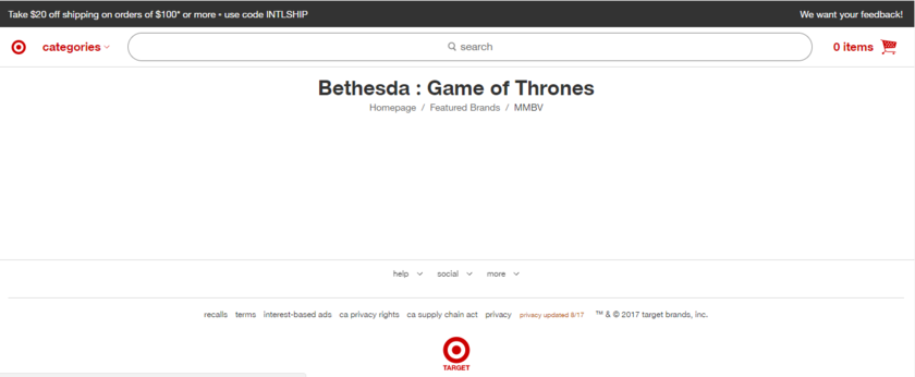 game of thrones bethesda softworks target jeu video