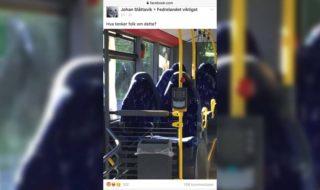 Facebook : des extrémistes de droite voient des burqas sur cette banale photo de sièges de bus vide !