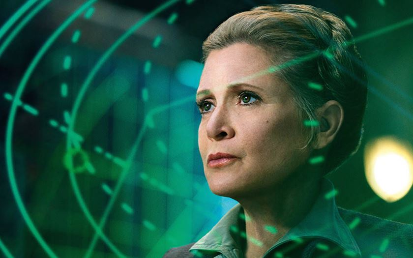 carrie fisher hommage star wars 8