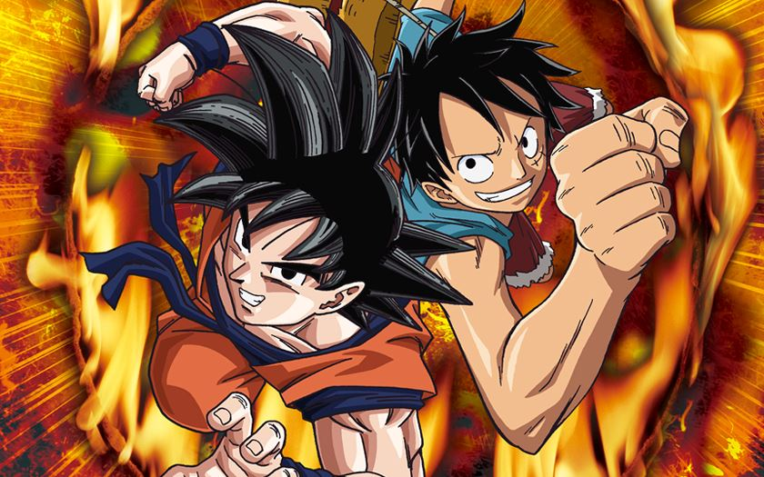 dragon ball one piece crossover