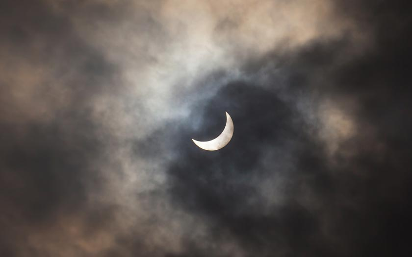 Eclipse partielle lune