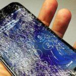 Ecran brisé smartphone