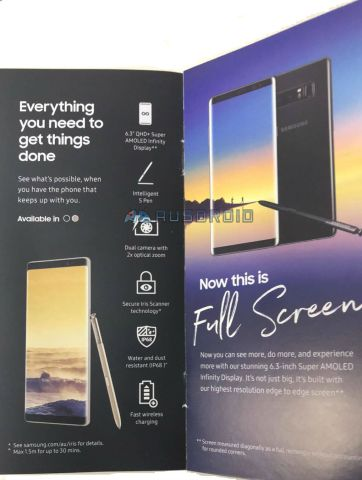 galaxy note 8 brochure