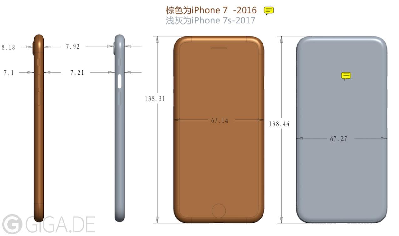 l iphone 7s sera plus pais que les iphone 7 actuels
