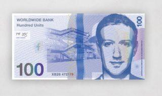 mark zuckerberg argent billet
