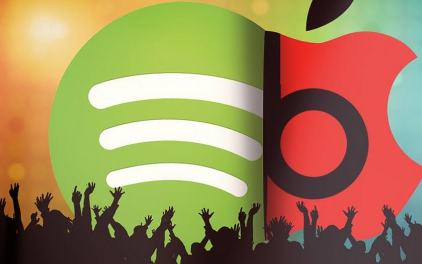 Spotify compte 60 millions d'abonnés en juillet 2017, le double d'Apple Music