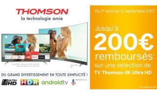 Bon plan TV 4K UHD Thomson : jusqu'à 200 euros remboursés sur une sélection de télévisions