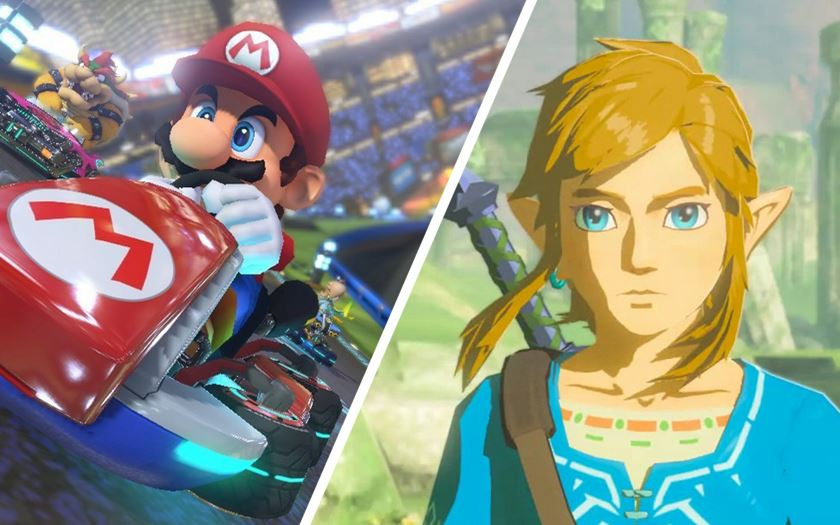 video 4k zelda breath of the wild mario kart 8