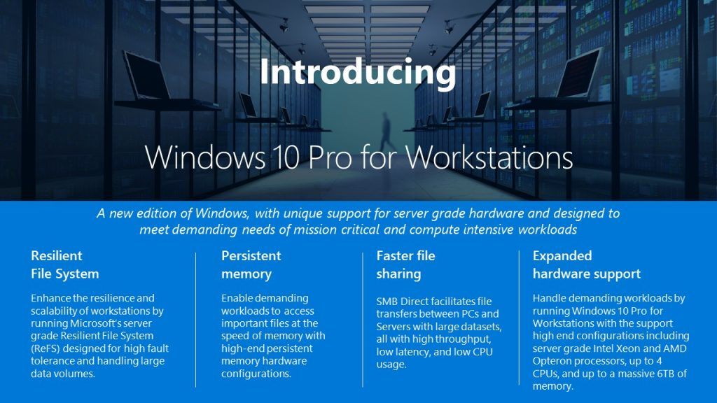 windows 10 for workstations