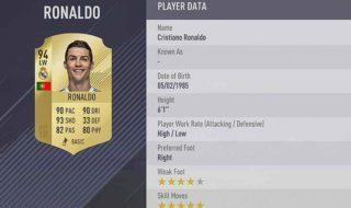 FIFA 18 meilleurs joueurs notes