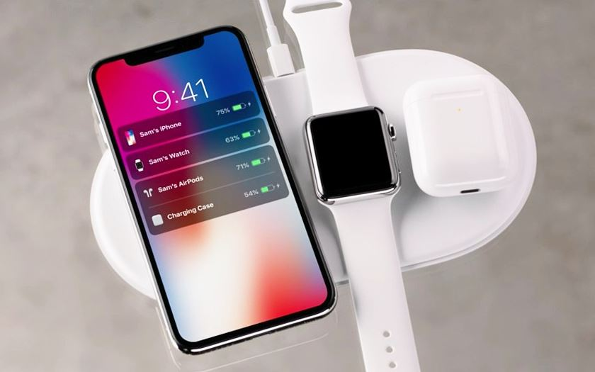 airpower apple lance une station de recharge sans fil compatible iphone x 8 watch et airpods. Black Bedroom Furniture Sets. Home Design Ideas