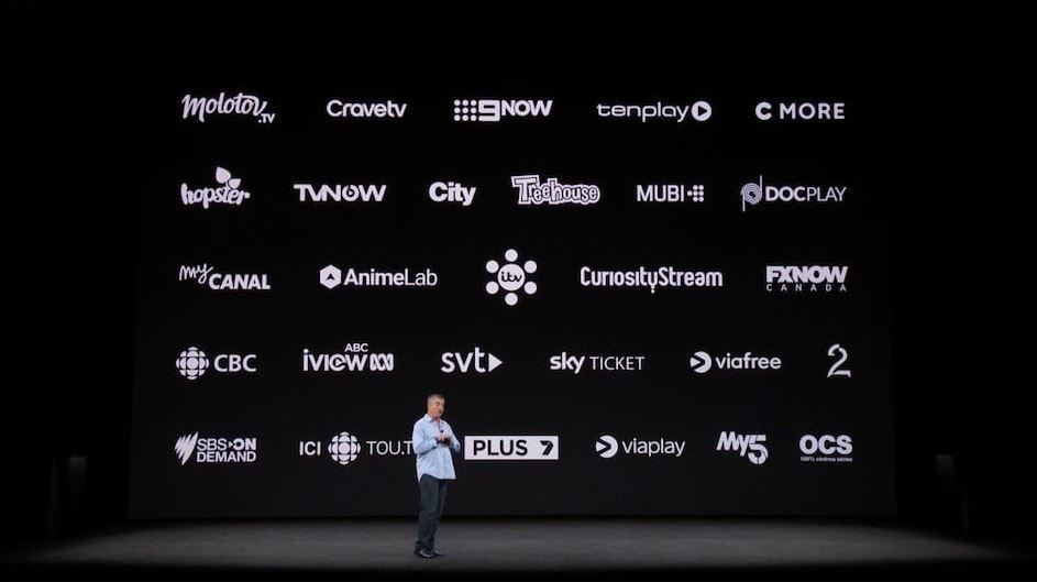 apple tv app partenaires