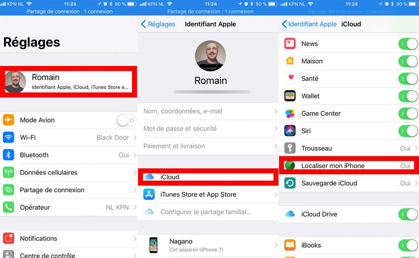 desactiver localiser iphone ios 11