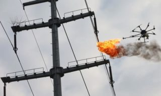 Drone lance flammes