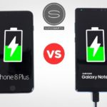 iPhone 8 vs Galaxy Note 8 recharge rapide