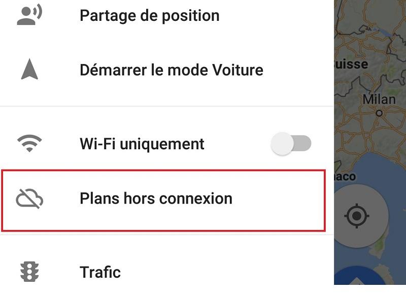 Plans hors connexion