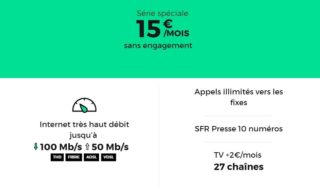 Bon plan RED by SFR : box fibre à 10 € par mois sans engagement