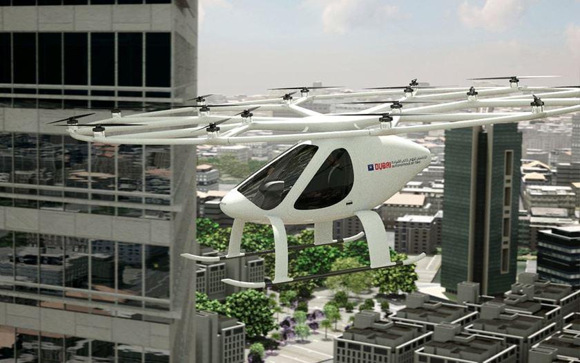 taxi volant autonome dubai