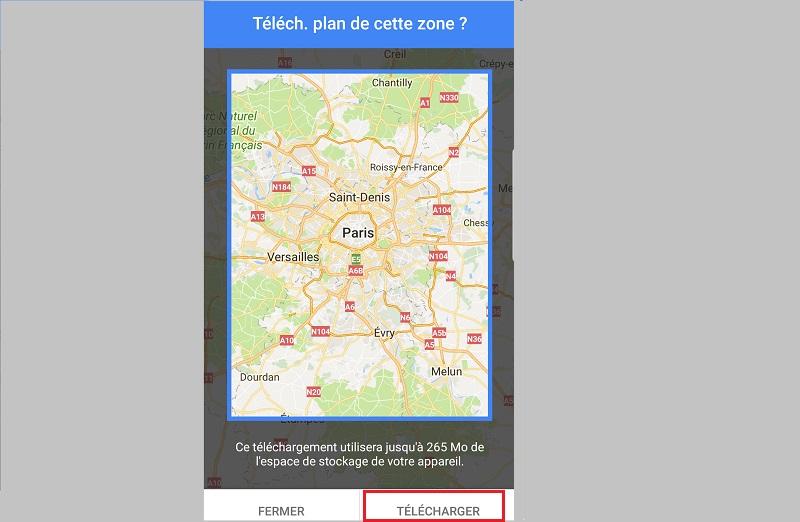 Google Maps hors connexion Internet