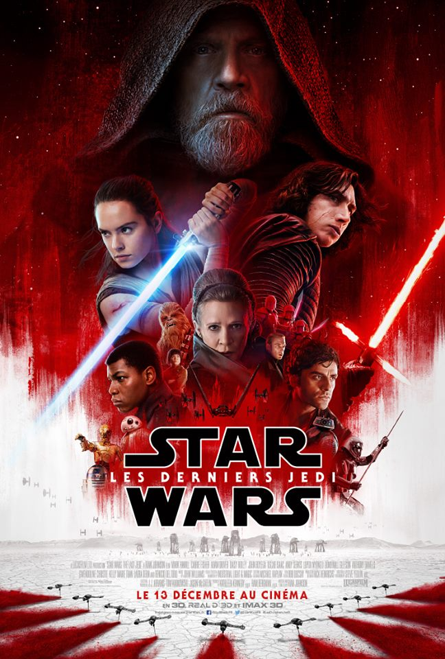 star wars 8 poster officiel affiche