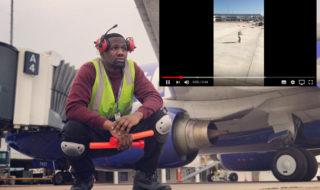 Vidéo : un agent de piste d'aéroport danse comme un fou sur le tarmac, et casse le net !