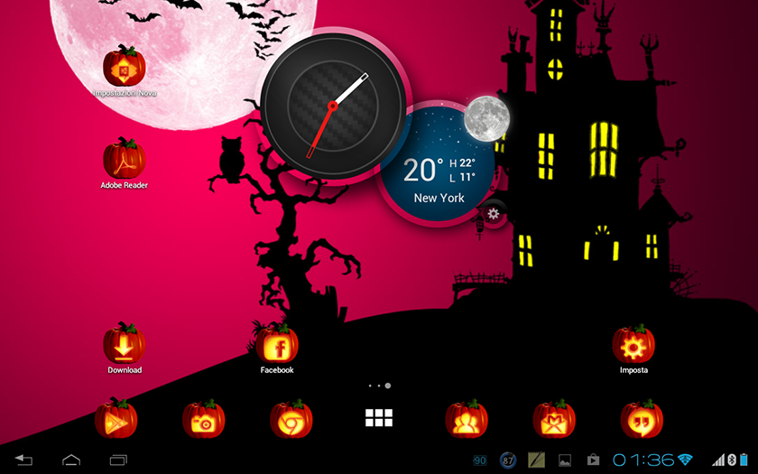 top applications android ios halloween icônes