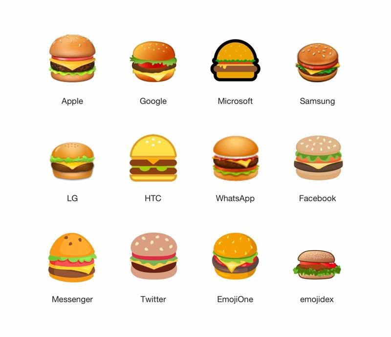 Controverse autour des émojis hamburger d'Apple et de Google