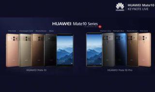 Huawei Mate 10 et Mate 10 Pro officiels : le flagship cherche sa place entre le Note 8 et l'iPhone X