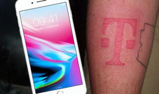 iPhone 8 : il se tatoue le logo de son opérateur pour en avoir un gratuit !