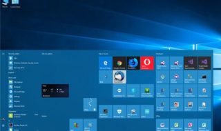 Menu Démarrer Windows 10 Fall Creators Update