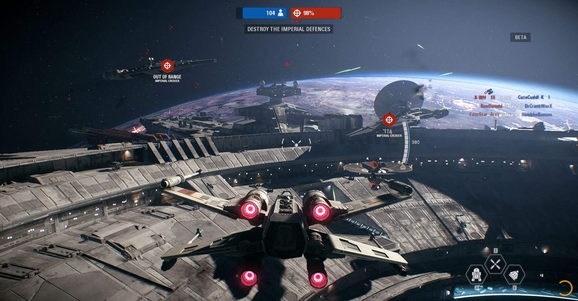star wars battlefront 2 beta bataille spatiale