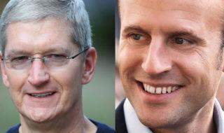 Macron aurait convaincu Tim Cook qu'Apple doit être taxé en France